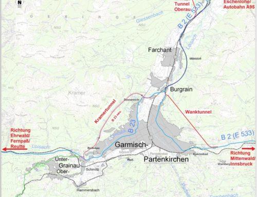 Kramertunnel, Verlegung B23 neu westlich Garmisch Partenkirchen
